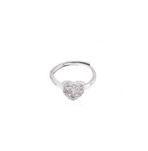 Δαχτυλίδι ρυθμιζόμενο Ορείχαλκος Πλατίνα 4YOU jewels P6766