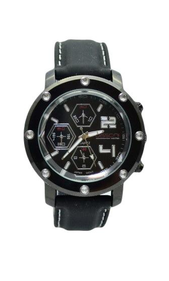 Γυναικείο ρολόϊ με λουράκι σιλικόνης K81214-BLACK