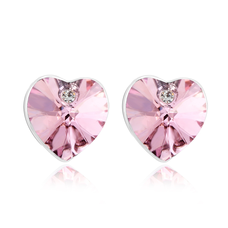 Σκουλαρίκια Ορείχαλκος καρδιά με κρύσταλλα Swarovski - hotstyle.gr 2bc9a4d47a8
