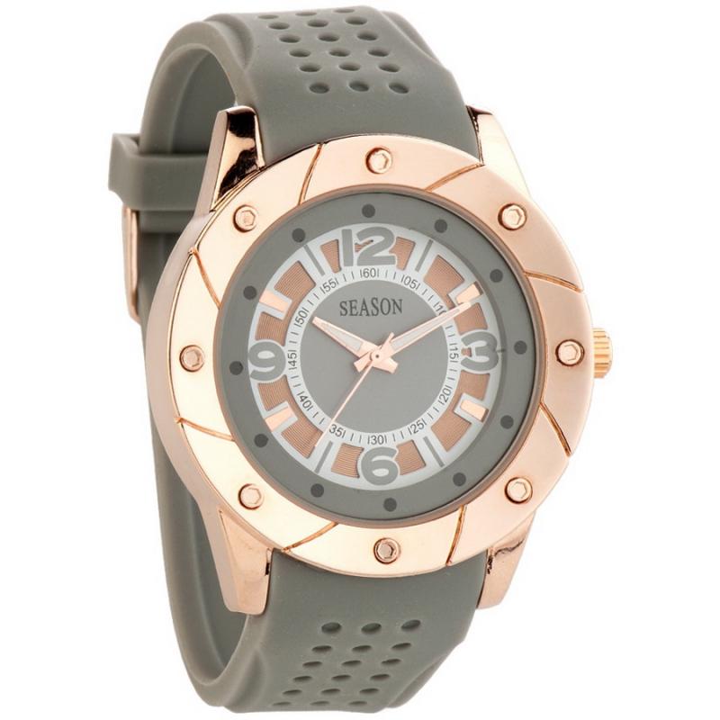 Ρολόι γυναικείο Season Time Nisyros με λουράκι Γκρι 3-1-29-1 3edb8d9b265